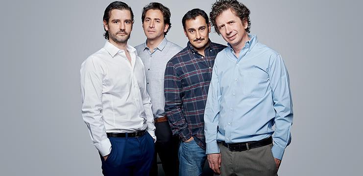 Antonio Hortelano, Antonio Garrido, Gabriel Olivares y Gabino Diego