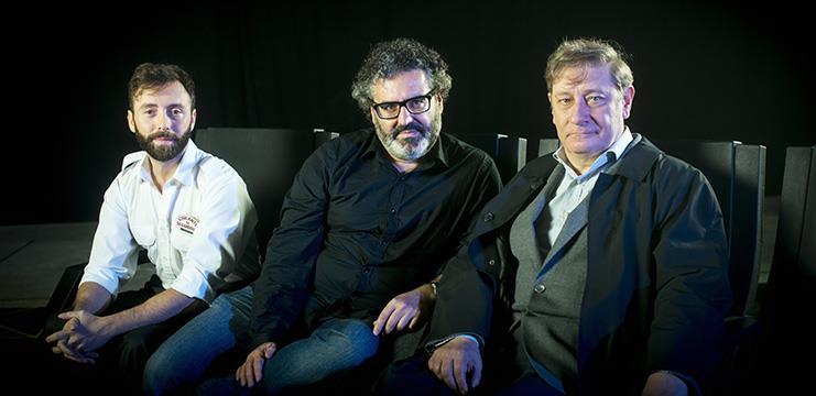 Dafnis Balduz, Antonio Morcillo y Fernando Sansegundo