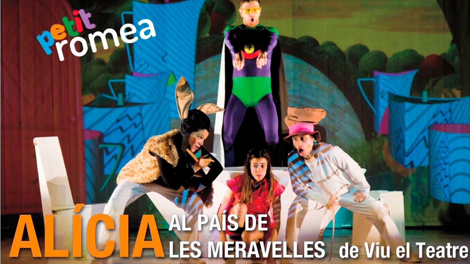Alícia al pais de las meravelles musical al teatre petit Romea Barcelona