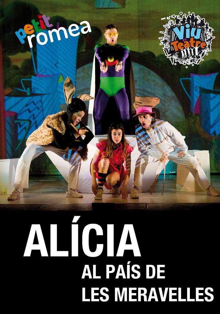 Alícia al país de les meravelles petit romea teatre infantil barcelona