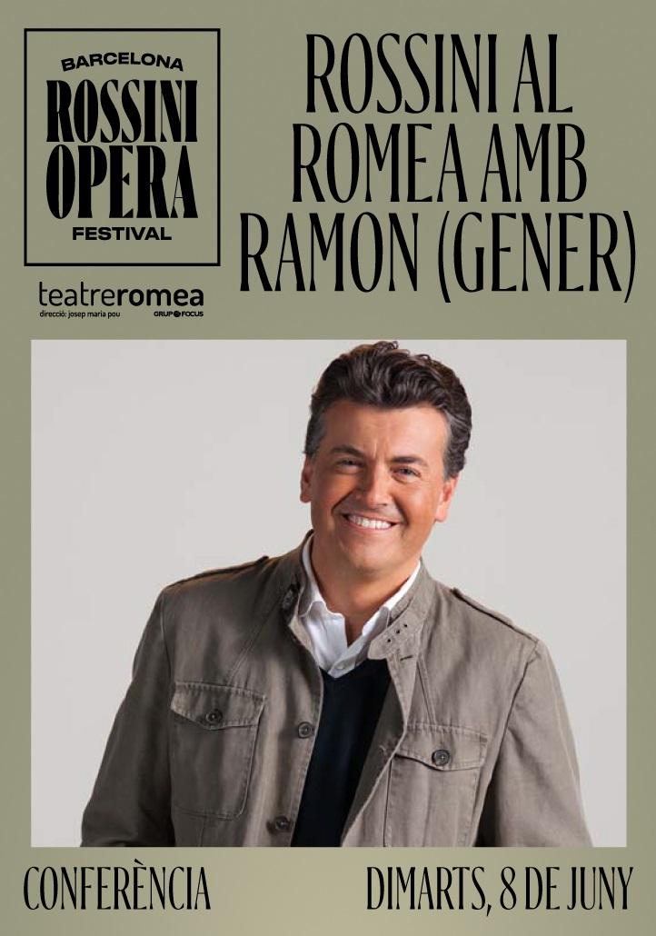 conferència de ramon gener en el programa del barcelona rossini opera festival al teatre romea de barcelona
