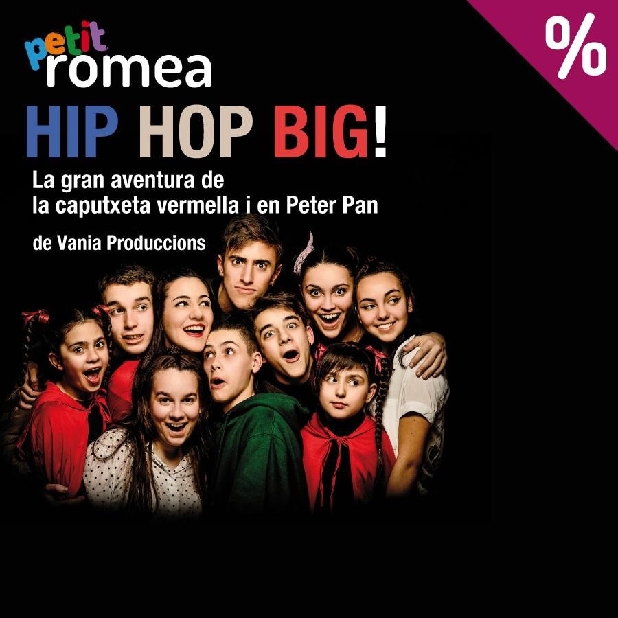 hip hop big la gran aventura de la caputxeta vermella i en peter pan teatre petit romea barcelona