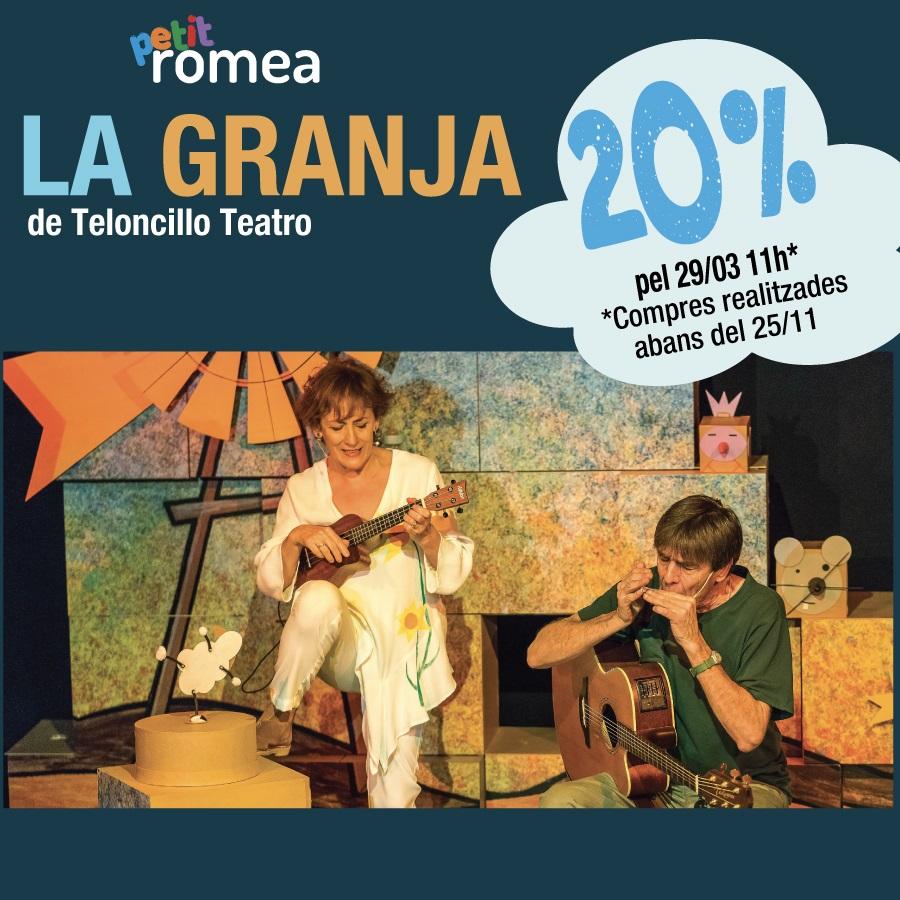 la granja teatre petit romea barcelona