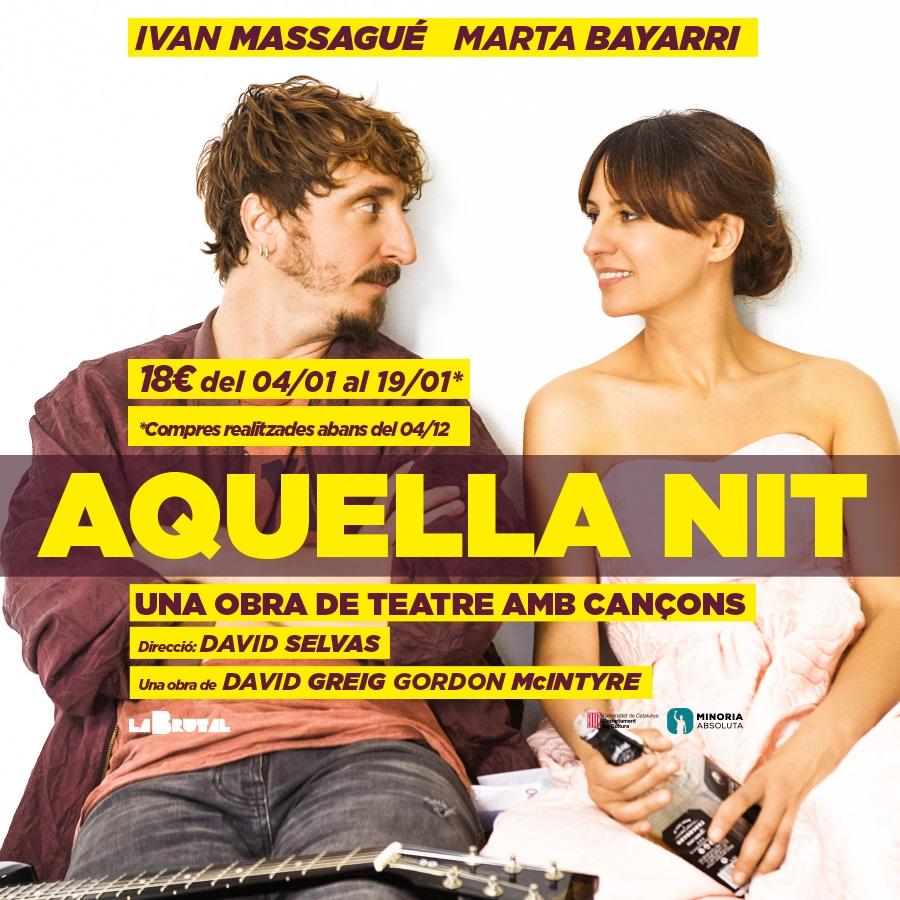 aquella nit una obra de teatre amb cançons al teatre de la villarroel de barcelona