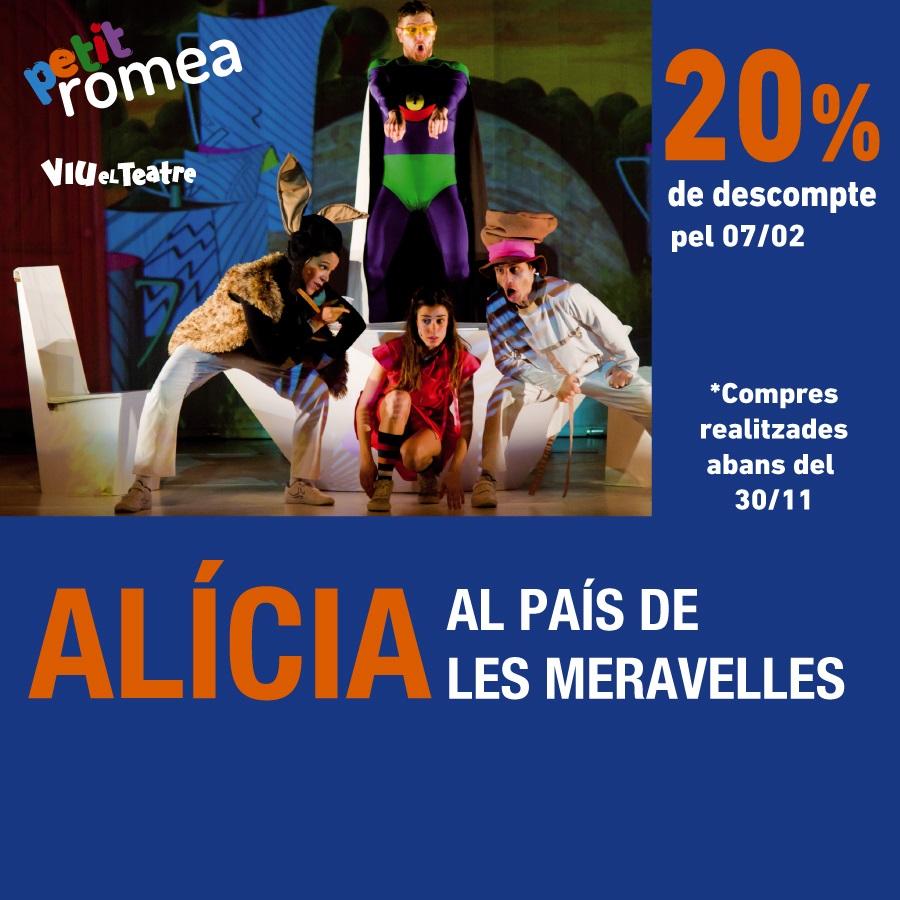 Alicia al pais de les meravelles al teatre petit romea de barcelona