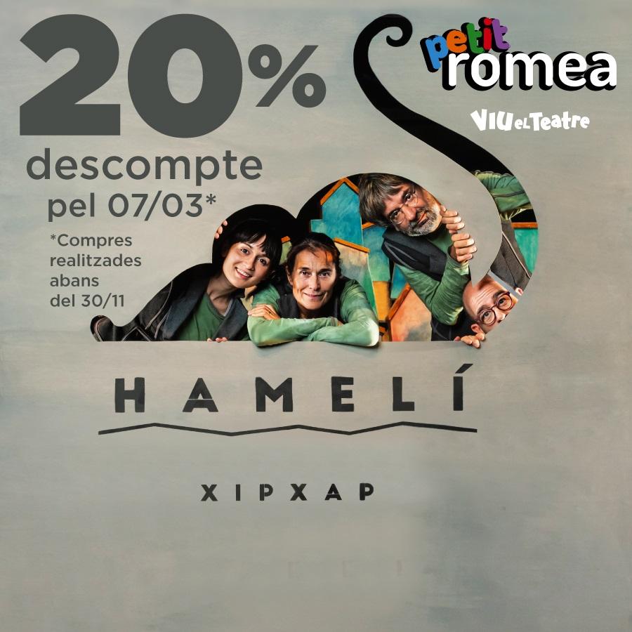 hameli al teatre petit romea de barcelona