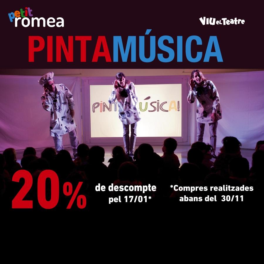 pintamusica al teatre petit romea de barcelona