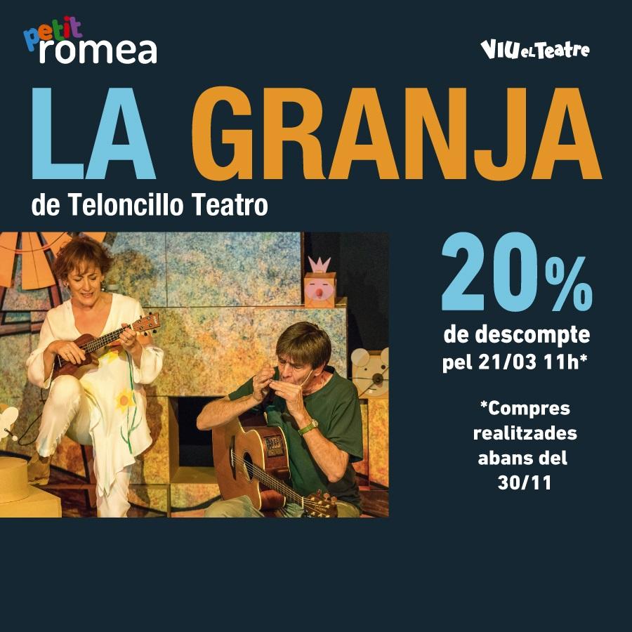 la granja al teatre petit romea de barcelona