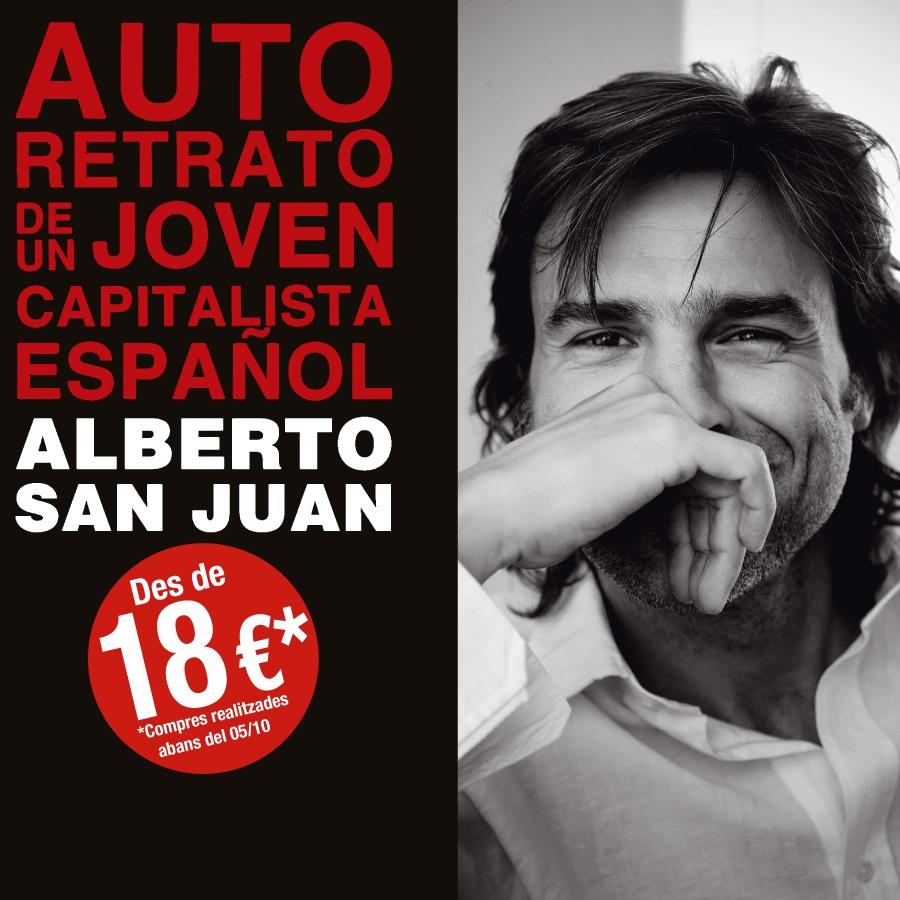 autorretrato de un joven espanol anticapitalista al teatre condal de barcelona