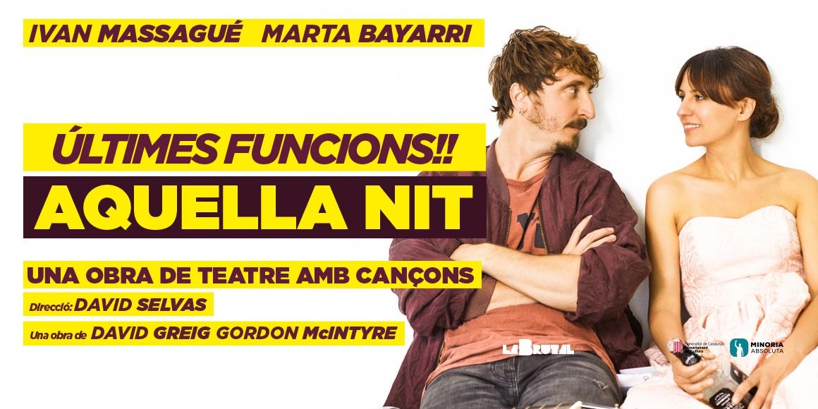 aquella nit una obra de teatre amb cançons al teatre la villarroel de barcelona