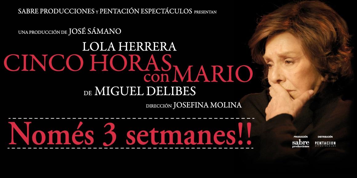 cinco horas con mario al teatre goya de barcelona